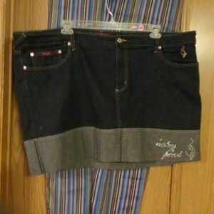 🎄Baby Phat plus size denim skirt
